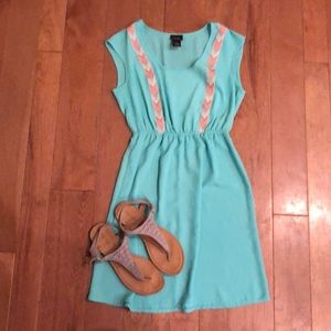 Rue21 Small Light turquoise with Aztec ribbon